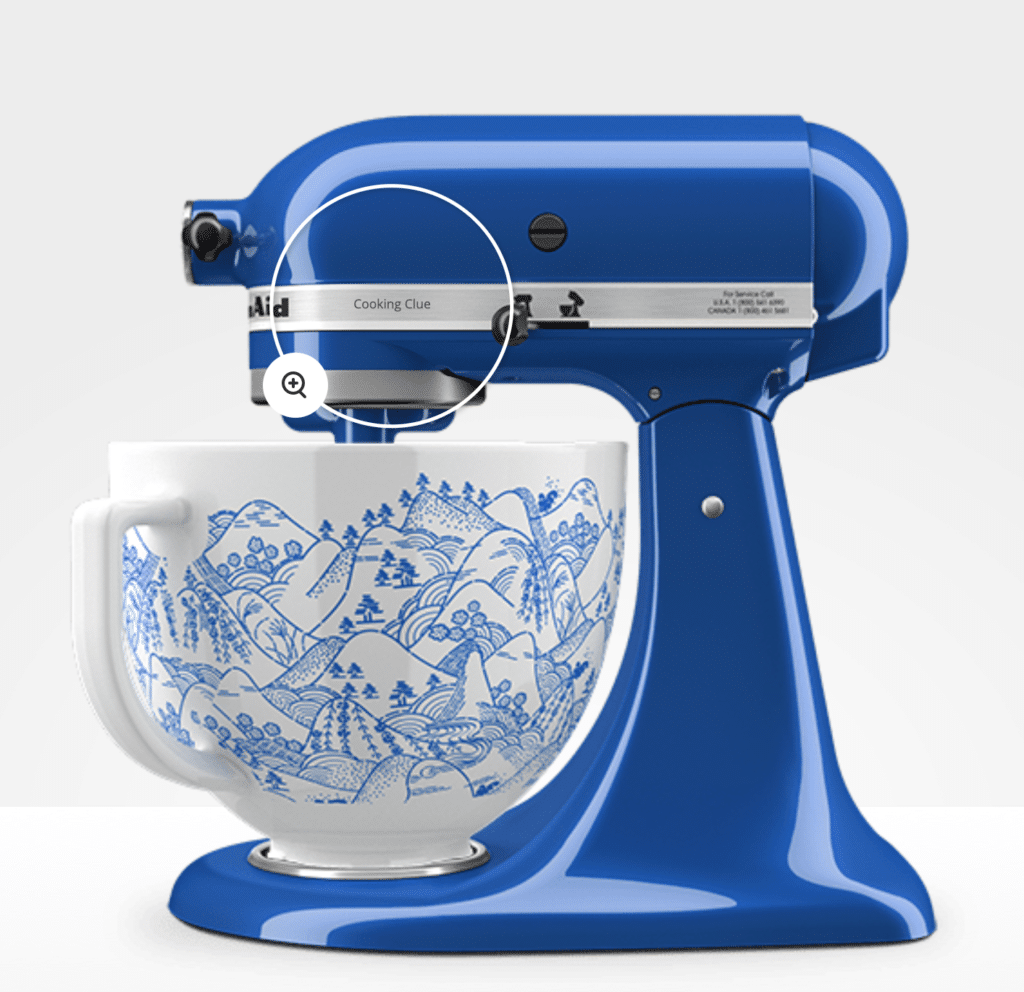 Personalised KitchenAid Artisan Series 5-Qt Stand Mixer with Customised Bowl
