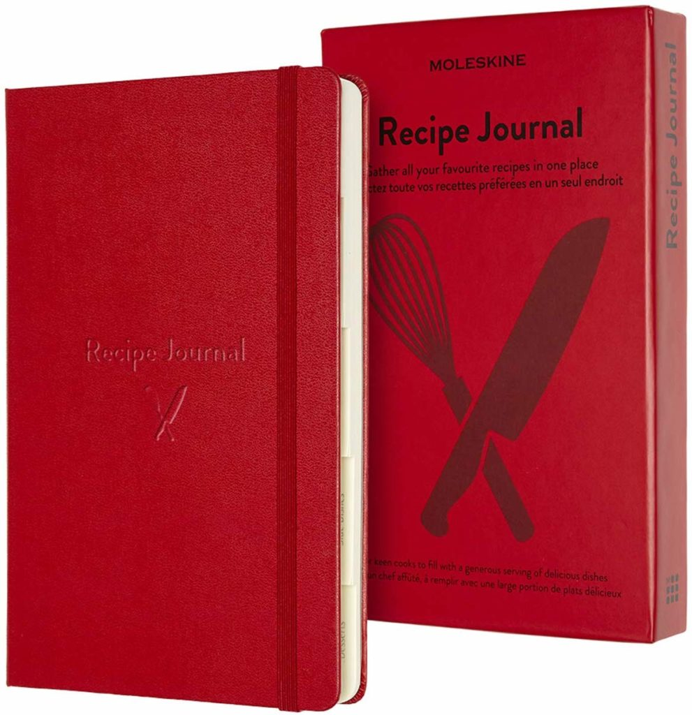 Deluxe Scarlet Red Hardcover Moleskine Recipe Journal