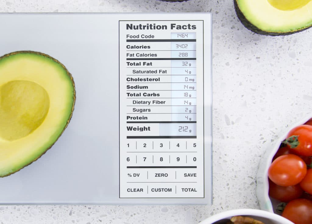 Greater Goods Nourish Nutritional Facts Digital Kitchen Scale